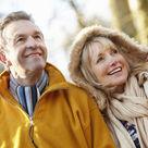Couple amoureux retraité
